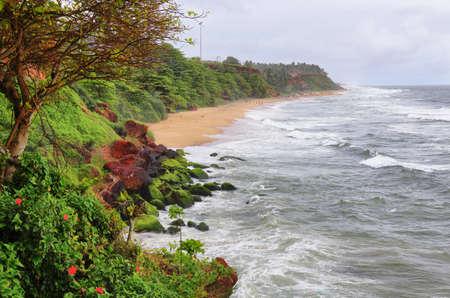 Varkala tropical beach Kerala, South India