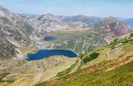 Views of Saliencia lakes in Somiedo natural park on the way to Calabazosa peak, Spain, Asturias, Spain Standard-Bild