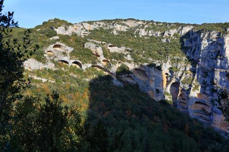View of Sierra de Guara gorge near Lecina village, Huesca province in Aragon, Spain
