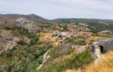 Castro Laboreiro village from de castle ruins in northern Portugal