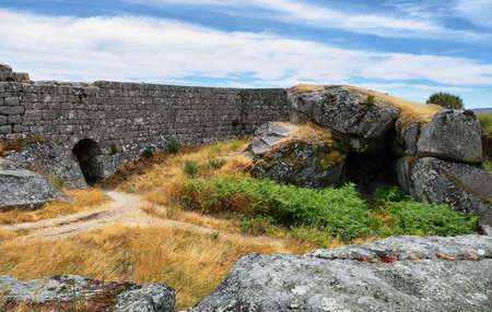 Castro Laboreiro castle ruins in northern Portugal