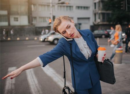 Woman doing multiple tasks. Multitasking business woman.