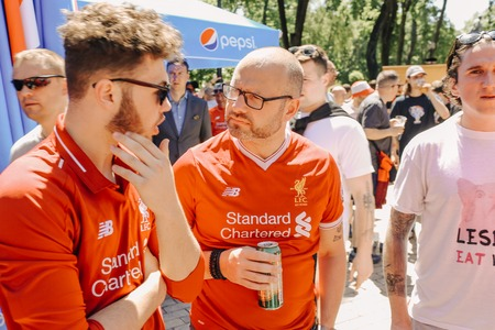 Liverpool, fan club UEFA Champions League Final, Olimpiyskiy National Sports Complex Stadium, Kiev, UA, 26 May 2018