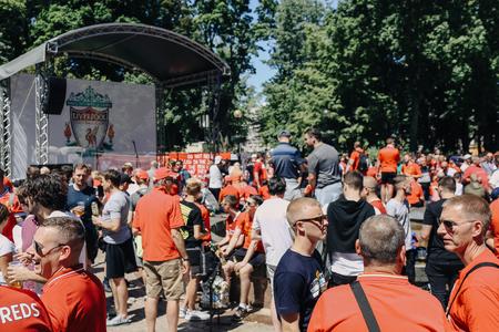 Liverpool, fan club UEFA Champions League Final, Olimpiyskiy National Sports Complex Stadium, Kiev, UA, 26 May 2018