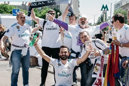 Real Madrid Football fans, UEFA Champions League Final, Olimpiyskiy National Sports Complex Stadium, Kiev, UA, 26 May 2018