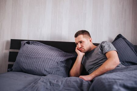 bad mood in the morning. Mens health problems and impotence and prostatitis