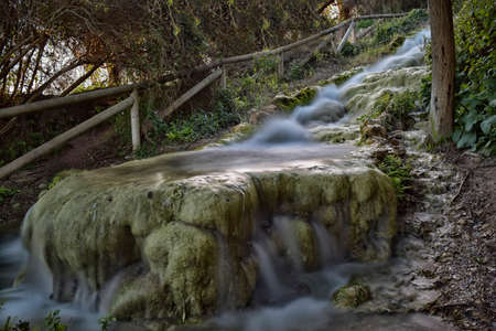 Little River near the ruins of aqueducts and water mills Roman times. photo