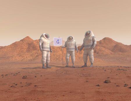 conquering: Humans conquering a planet