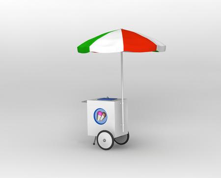 carretilla de mano: Carretilla de mano italiana de helados
