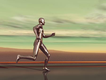 chrome man: Silver runner