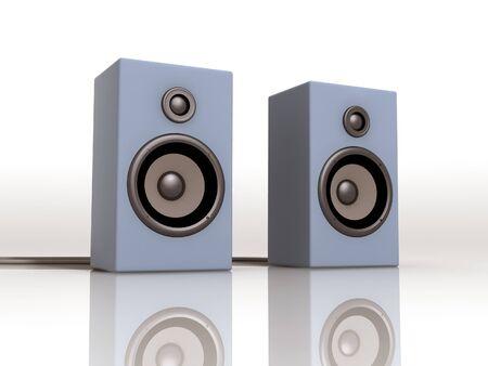 speakers: 3d illustration of a pair of speakers