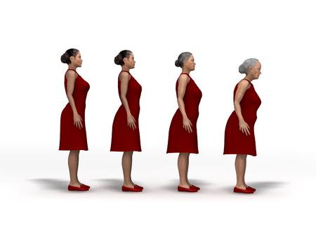 An aging woman