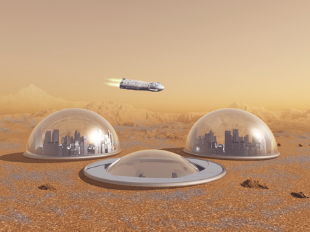 Future human colony on Mars