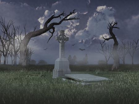 tomb empty: Old grave Stock Photo