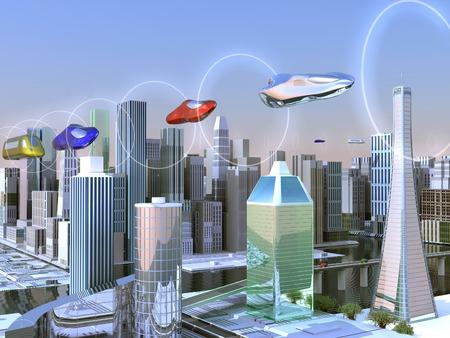 futuristic: Futuristic city