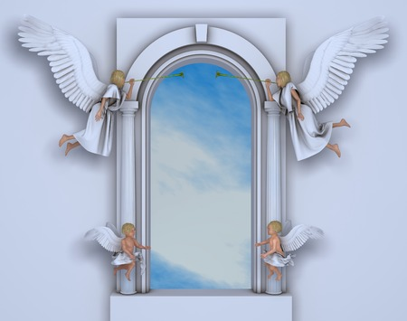Portal with angels and cherubs