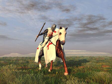 believer: Templar Knight on horseback