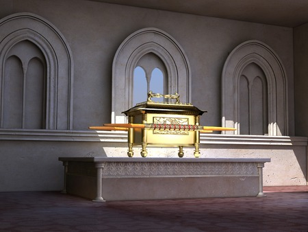 祭壇に契約の箱 写真素材