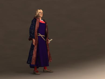 크리스토퍼 콜럼버스의 3d 일러스트