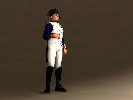 3d illustration of Napoleon Bonaparte