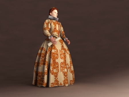 Elizabeth I of England의 3D 일러스트