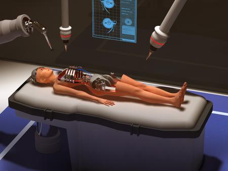 유지 보수중인 로봇