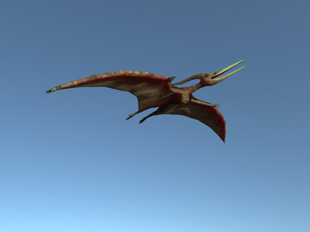 3d illustration of a flying pteranodon Stock Photo