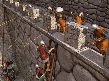 Siege to a medieval castle
