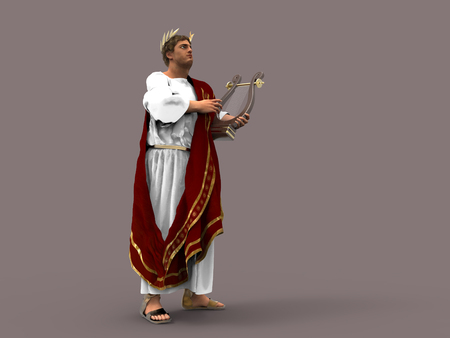 3d illustration of Emperor Nero