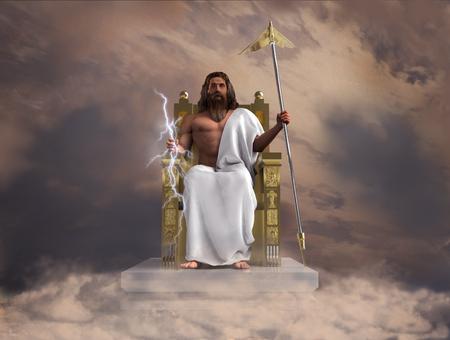 3d illustration of the god Zeus