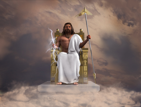 3d illustration of the god Zeus
