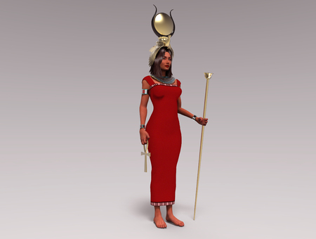 3d illustration of the Egyptian goddess Isis