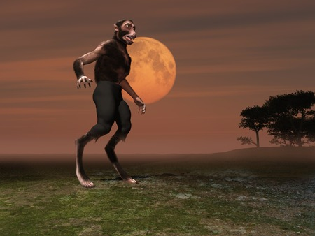 3d illustration of a werewolf