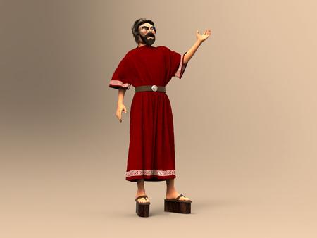 Actor de la antigua Grecia Foto de archivo
