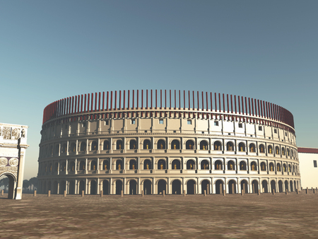 Colosseum of Rome in antiquity Stock Photo