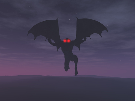3d illustration of the Mothman