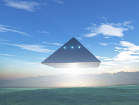 Pyramid-shaped UFO Фото со стока