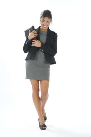 Self confident female young business executive looking at camera photo