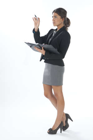 Seus female young business executive pointing out. Stock Photo - 14429682