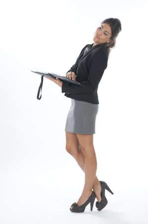 Female young business executive flirting. Stock Photo - 14429581