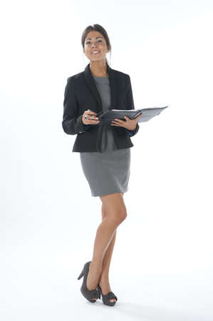 account executive: Self confident female young business executive looking at camera