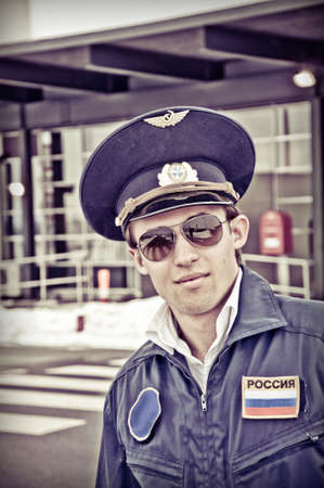 young student pilot Stock Photo