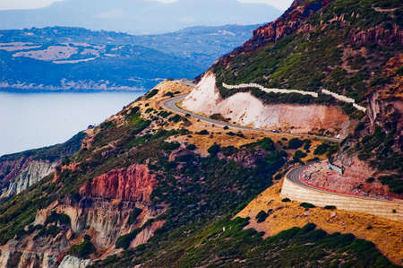 A picture of the road on the Italian island of Sardinia