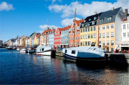 Nyhavn channel in Copenhagen, Denmark Stock Photo