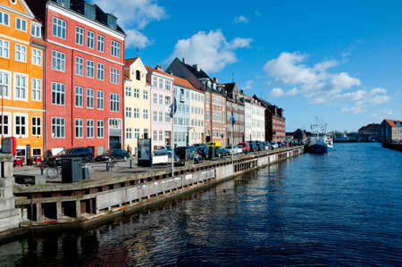 Nyhavn channel in Copenhagen, Denmark Stock Photo