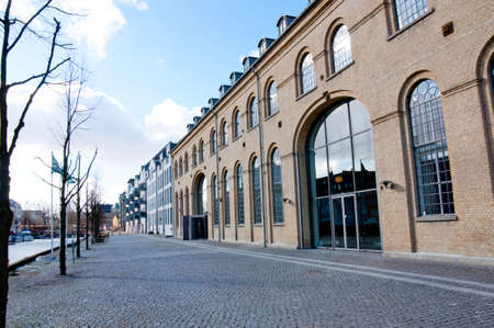 Old commercial buildings in Copenhagen, Denmark Stock Photo