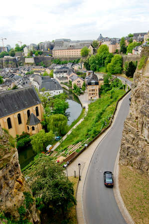 View of old monastery in Luxembourg