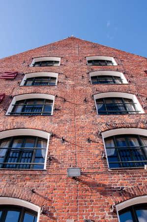 Old red bricks building in Copenhagen, Denmark
