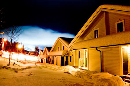 Ore village in Norway at night Stock Photo