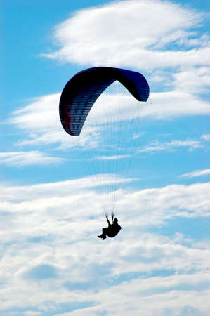 Paraglider in the air Stock Photo